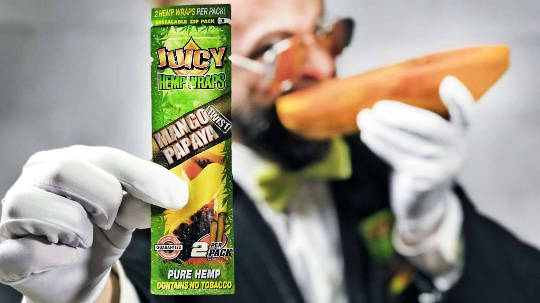 Juicy Mango Papaya Hemp Wrap