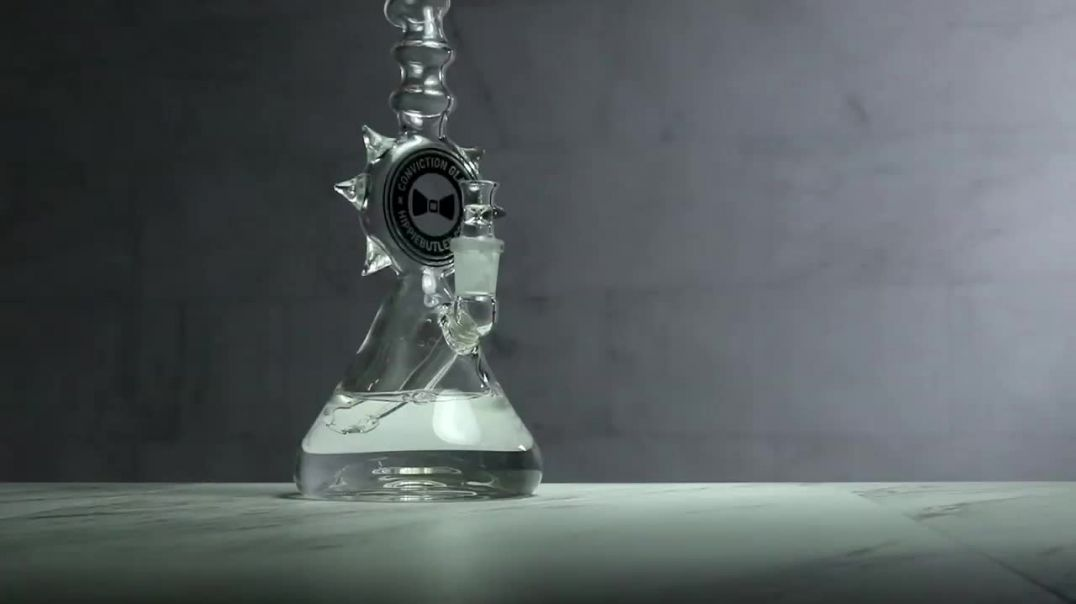 Conviction Glass 10″ Spiked Hippie Butler Beaker Water Pipe